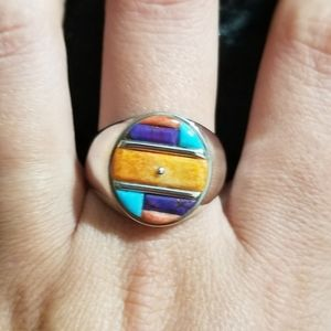 NEW Handcrafted Inlay Co-Ed 9.25 Sterling Silver